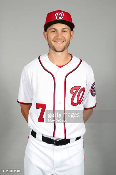 Trea Turner of the Washington Nationals poses during Photo Day on Friday February 22 2019 at the FITTEAM Ballpark of the Palm Beaches in West Palm...