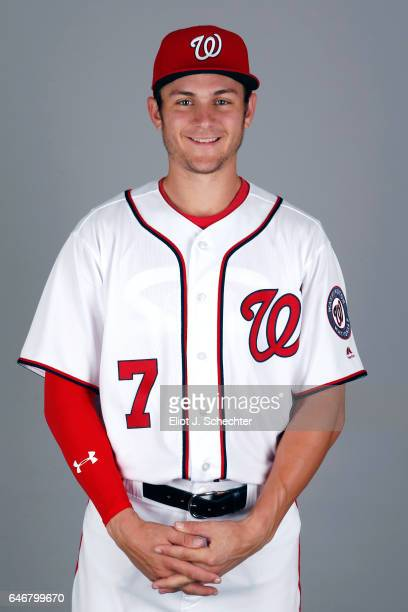 Trea Turner of the Washington Nationals poses during Photo Day on Thursday February 23 2017 at the Ballpark of the Palm Beaches in West Palm Beach...