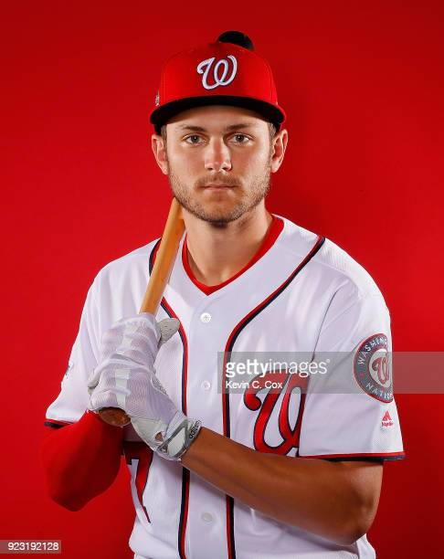 Trea Turner of the Washington Nationals poses for a photo during photo days at The Ballpark of the Palm Beaches on February 22 2018 in West Palm...