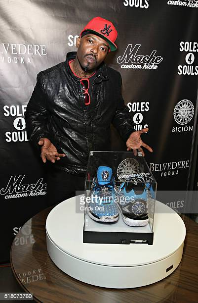 Treach attends as the world's most expensive sneaker The Fire Monkey is unveiled on March 29 2016 in New York City