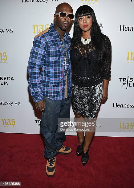 Treach Criss and Cicely Evans attend the Nas Time Is Illmatic New York Premiere at Museum of Modern Art on September 30 2014 in New York City