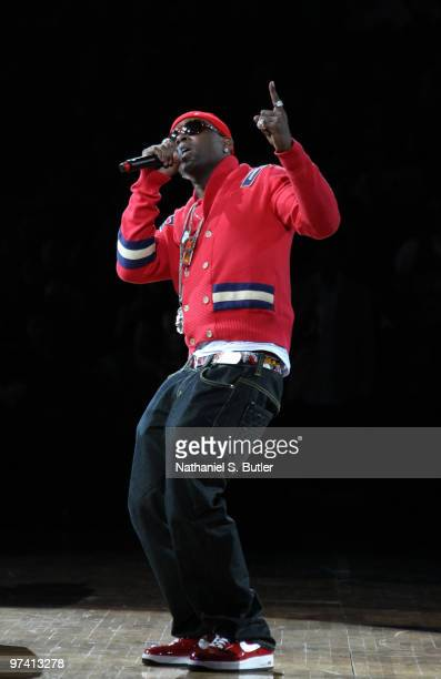 Treach of Naughty by Nature performs during half-time of the New Jersey Nets against the Cleveland Cavaliers game on March 3, 2010 at the IZOD Center...