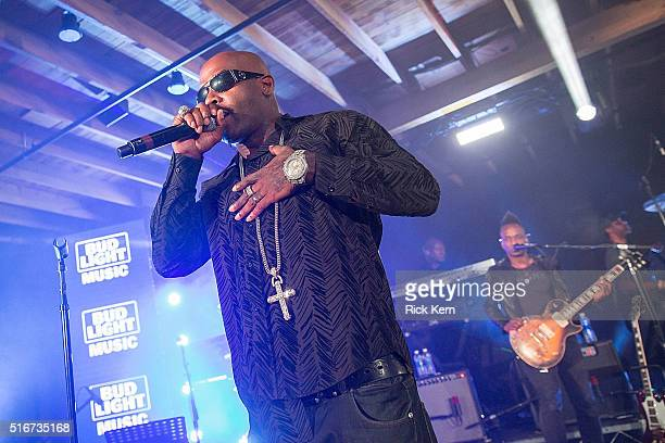 Treach of Naughty by Nature takes the stage with The Roots at the Bud Light Factory during the Bud Light Music Showcase on March 19 2016 in Austin...