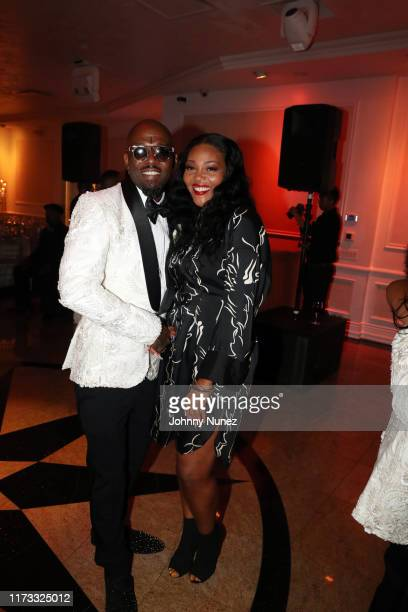 Treach poses with Ashley Campbell at the Treach Cicely Evans Wedding at Waterside Reception Hall on September 08 2019 in North Bergen New Jersey