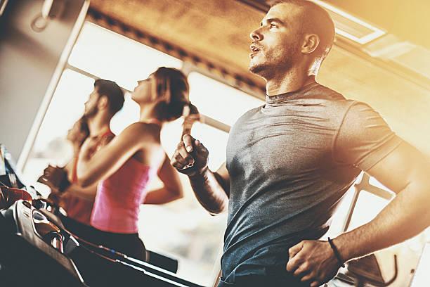 Treadmill workout.