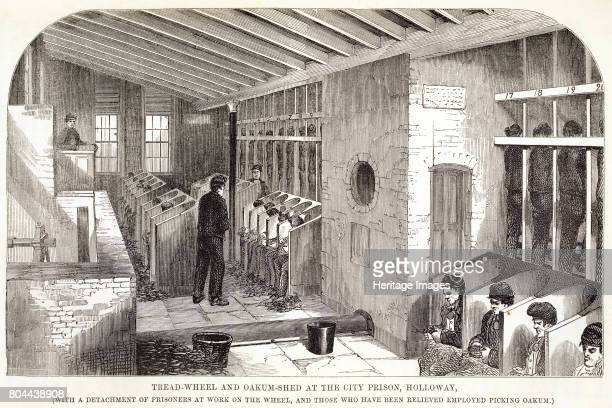 TreadWheel and OakumShed at the City Prison Holloway' London 1862 From The Criminal Prisons of London and Scenes of Prison Life by Henry Mayhew and...