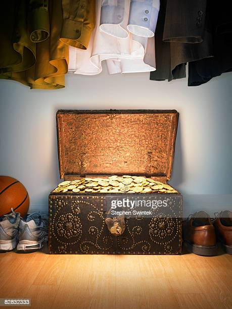 Treasure chest in a closet