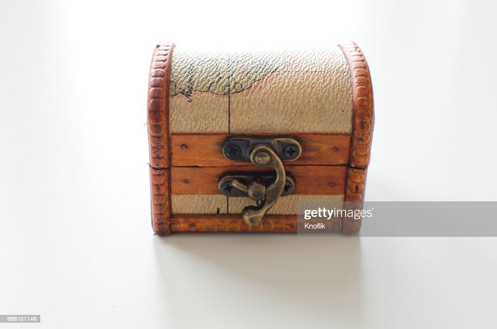 treasure chest on white wooden table stock photo getty images