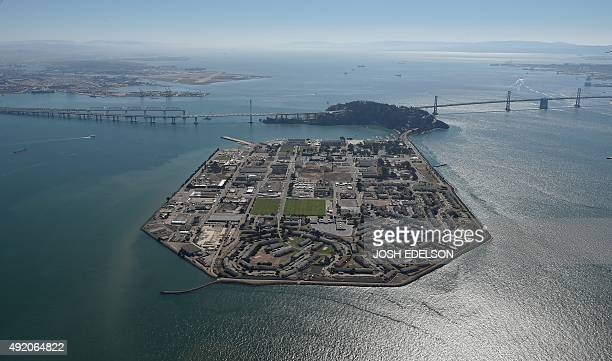 Treasure Island and the Bay Bridge are seen in San Francisco California on October 9 2015 AFP PHOTO/ JOSH EDELSON