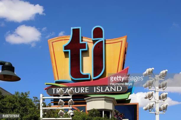 Treasure Island Hotel and Casino signage in Las Vegas Nevada on September 9 2017