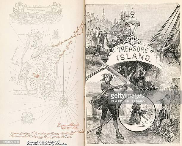 Treasure Island novel by Robert Louis Balfour Stevenson title page
