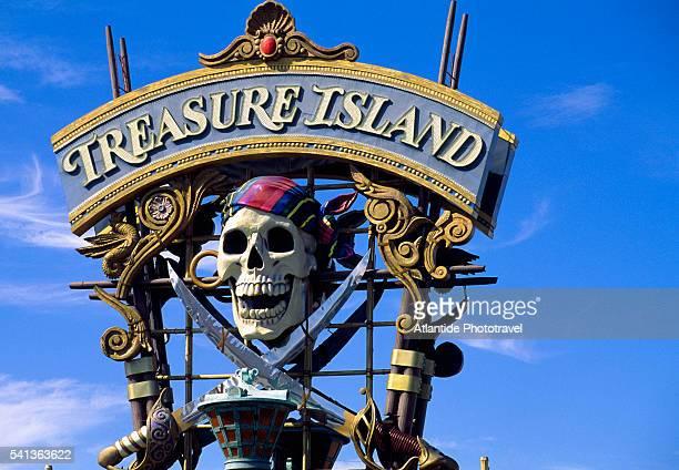 Treasure Island Sign in Las Vegas