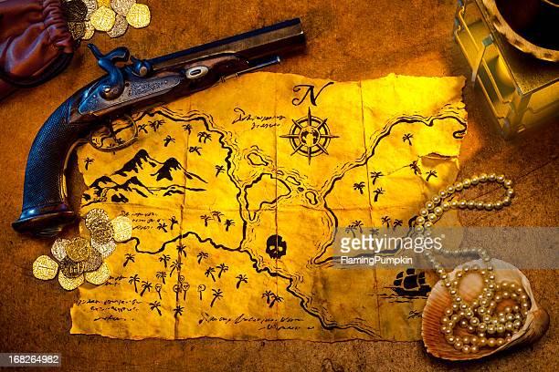 Carte du trésor et Pistolet de bougie de lumière. XXXL