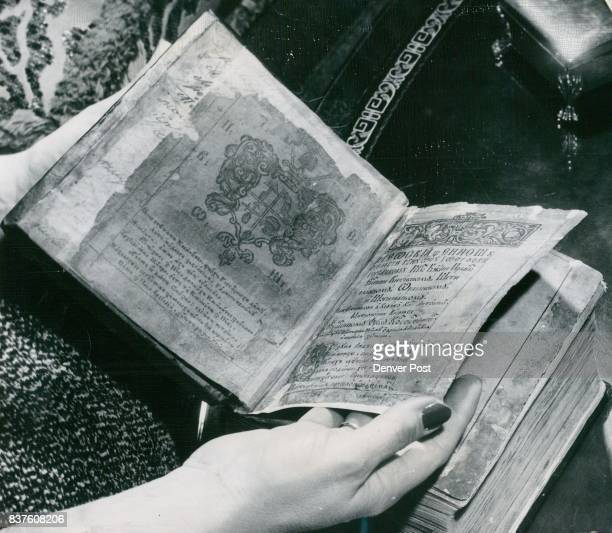Treasured Russian Bible once belonging to famed ballet dancer Nijinsky is one of Dr Evans' most prized books Pages were so fragile some had to be...
