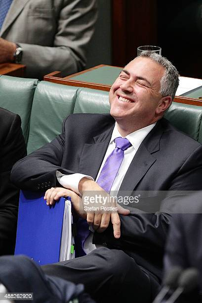 Treasurer Joe Hockey during House of Representatives question time at Parliament House on September 15, 2015 in Canberra, Australia. Malcolm Turnbull...