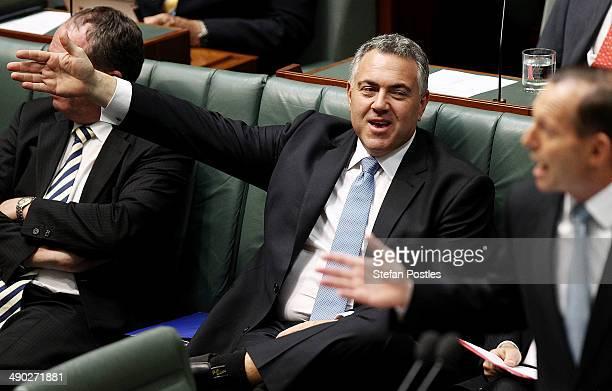 Treasurer Joe Hockey during House of Representatives question time at Parliament House on May 14 2014 in Canberra Australia Australian Treasurer Joe...