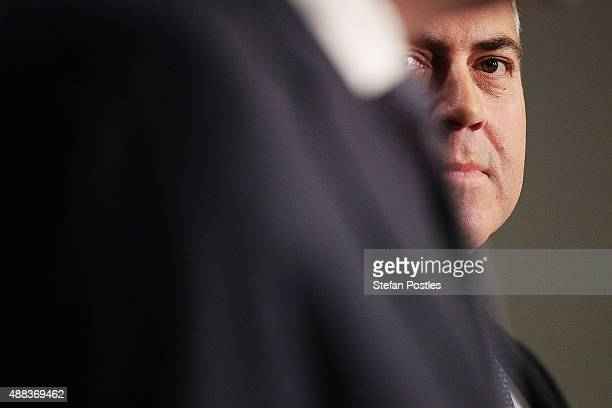 Treasurer Joe Hockey speaks to the media during a press conference with ATO Commissioner of Taxation Chris Jordan at Parliament House on September...