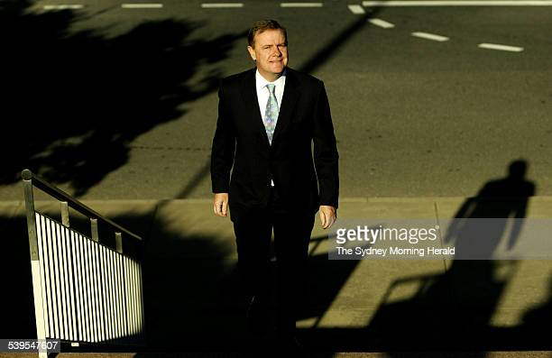 Treasurer Peter Costello arriving at Parliament House to deliver his tenth Federal Budget in Canberra on 10 May 2005 SMH NEWS Picture by PENNY...