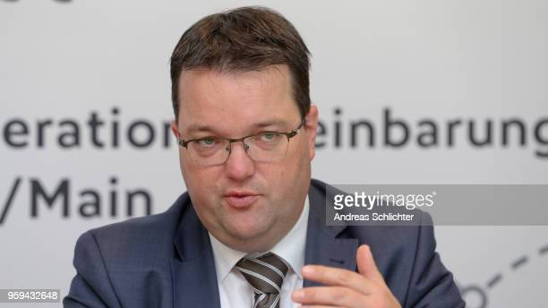 Treasurer Stephan Osnabruegge at DFB Headquarter on May 17 2018 in Frankfurt am Main Germany