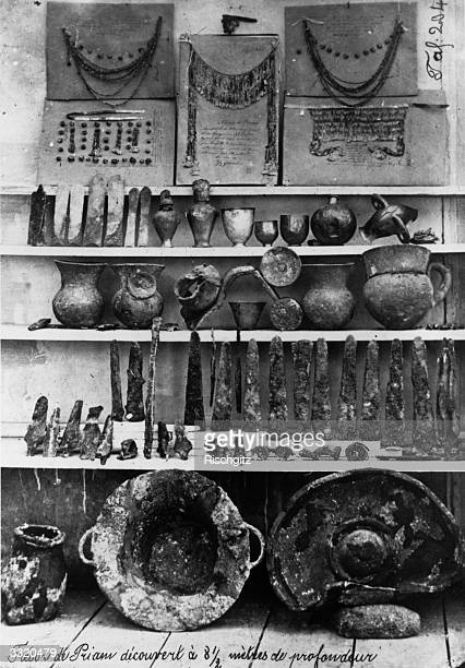 Treasures discovered by Heinrich Schliemann at Hisarlik and wrongly identified as belonging to Priam King of Troy They actually came from an earlier...