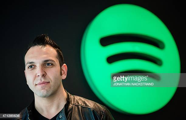 Treasury and Tax Analyst at Spotify 31 yearsold Rami Sabbagh is pictured at the company headquarters in Stockholm on May 22 2015 AFP PHOTO/JONATHAN...