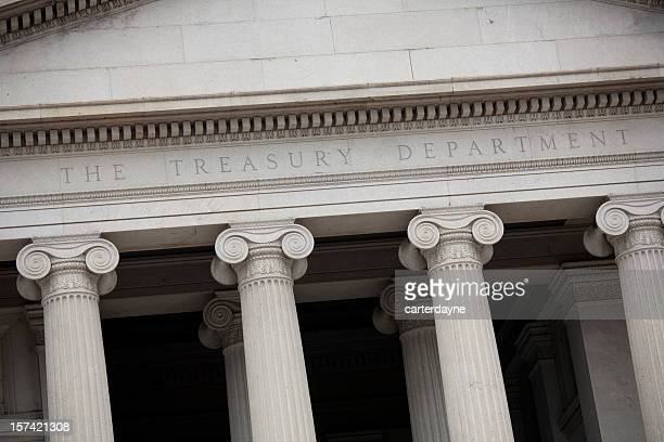 us treasury building, washington dc slanted perspective - bailout stock pictures, royalty-free photos & images
