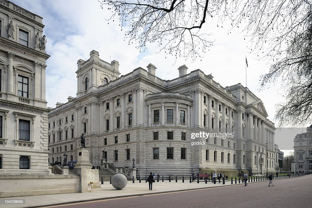 Treasury Building, Westminster, London, England, UK : Stock Photo