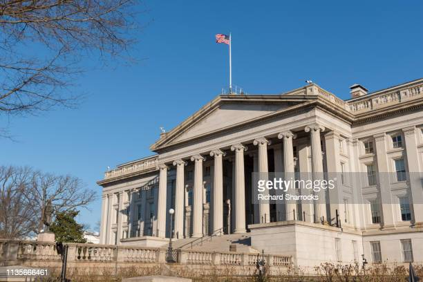 us treasury department, washington dc - treasury stock pictures, royalty-free photos & images