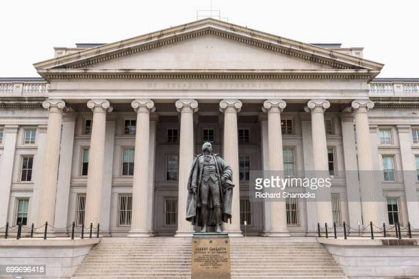 us treasury department, washington dc, usa - neoklassiek stockfoto's en -beelden