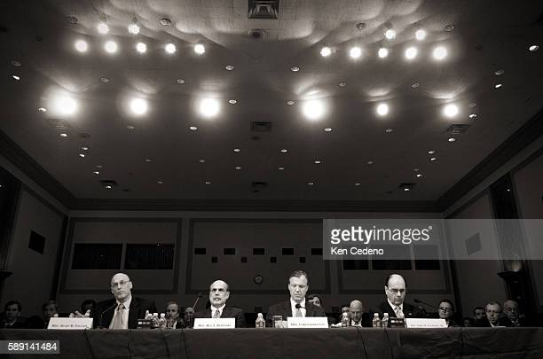 Treasury Secretary Henry Paulson, Federal Reserve Board Chairman Ben Bernanke, Chairman of the Securities and Exchange Commission Christopher Cox,...