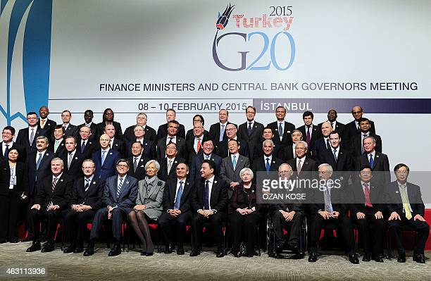 US Treasury Secretary Jack Lew International Monetary Fund chief Christine Lagarde Turkey's Central Bank Governor Erdem Basci Turkey's Deputy Prime...