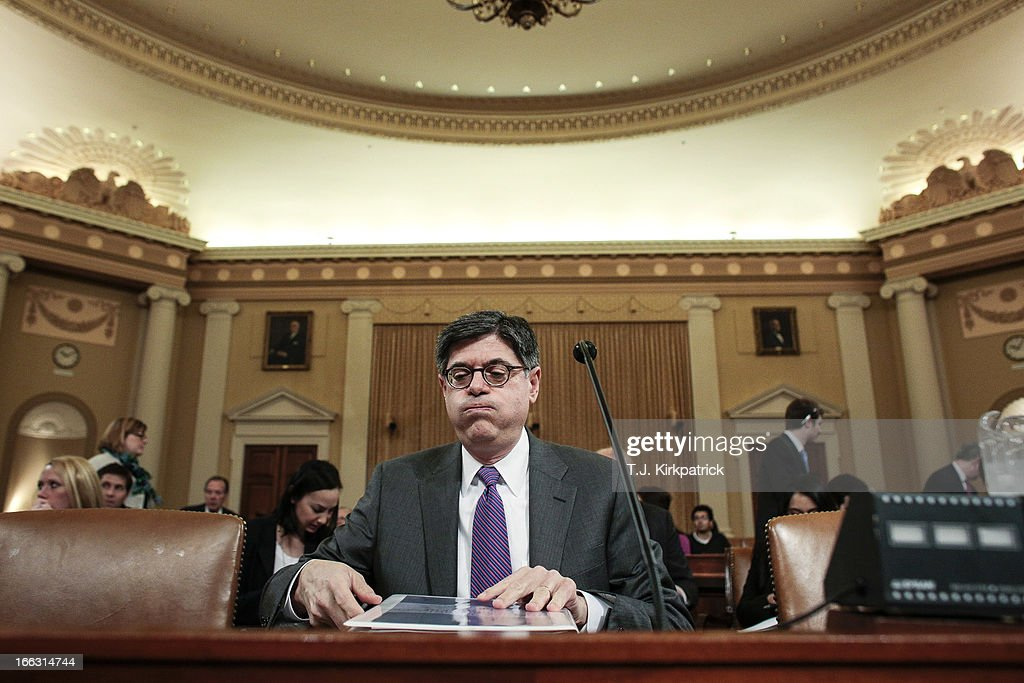 Treasury Secretary Jack Lew Testifies On Obama's FY2014 Budget