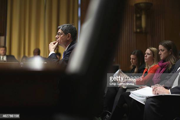 Treasury Secretary Jack Lew testifies before the Senate Finance Committee about the Obama Administration's proposed FY2016 federal budget in the...