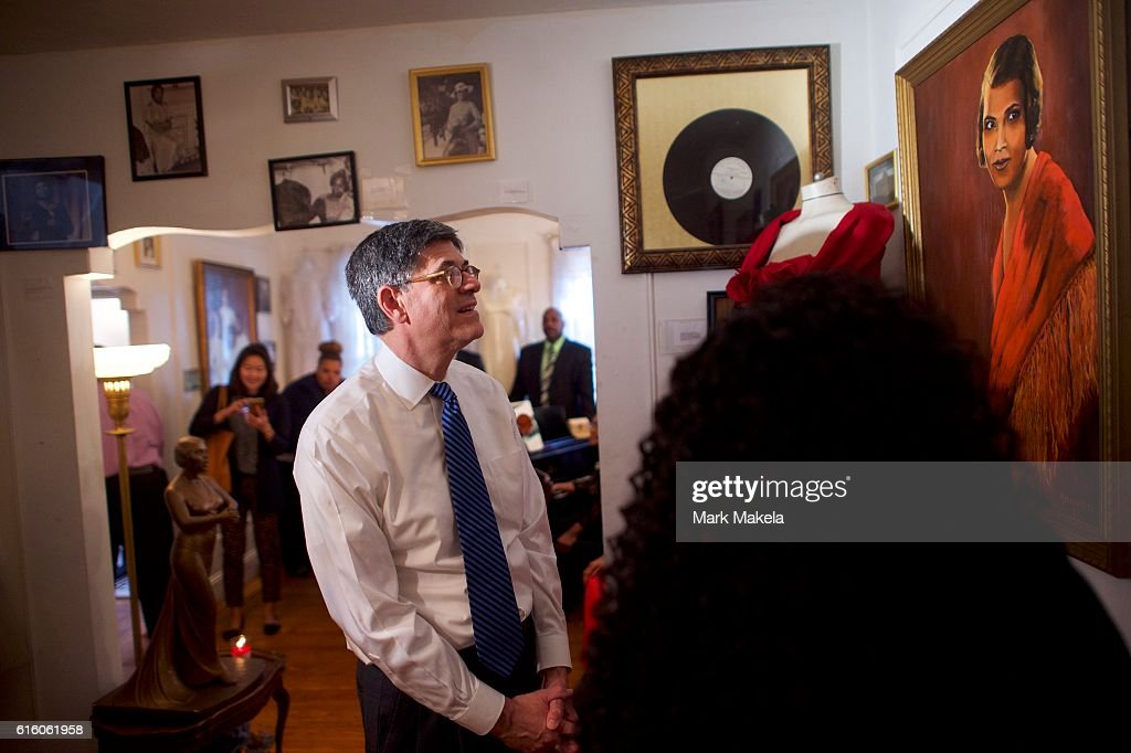 Treasury Secretary Jacob Lew Visits Marian Anderson Residence Museum Discussing Her Inclusion On 5 Dollar Bill