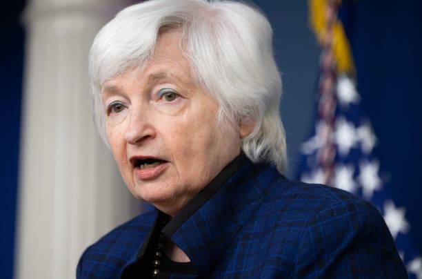 DC: White House Press Secretary Psaki Holds Media Briefing With Treasury Secretary Yellen