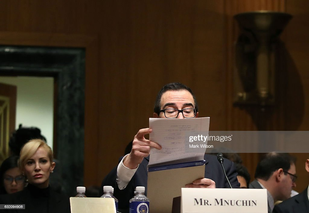Senate Holds Confirmation Hearing for Treasury Security Nominee Steven Mnuchin
