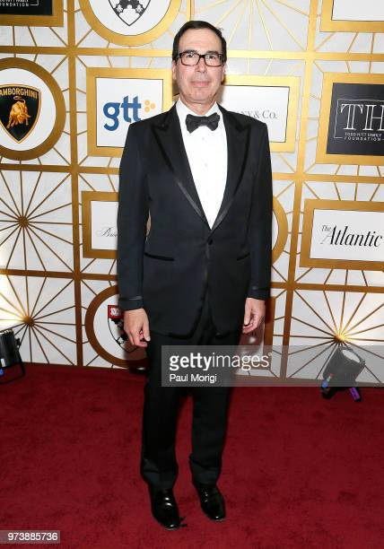 S Treasury Secretary Steven Mnuchin attends the Harvard Business School Club's 3rd Annual Leadership Gala Dinner at the Four Seasons Hotel on June 13...