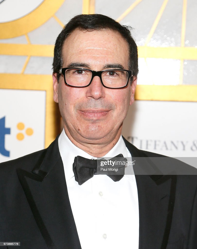 U.S. Treasury Secretary Steven Mnuchin attends the Harvard Business School Club's 3rd Annual Leadership Gala Dinner at the Four Seasons Hotel on June 13, 2018 in Washington, DC.