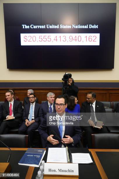 Treasury Secretary Steven Mnuchin prepares to testify on 'The Annual Report of the Financial Stability Oversight Council' before the House Financial...