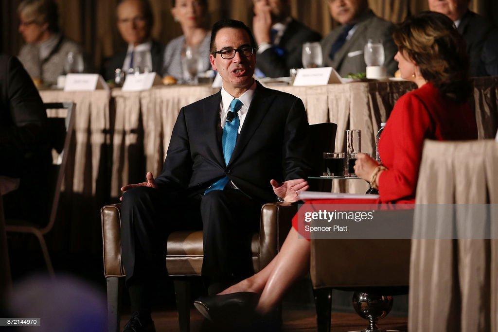 Treasury Secretary Stephen Mnuchin Addresses The Economic Club Of New York