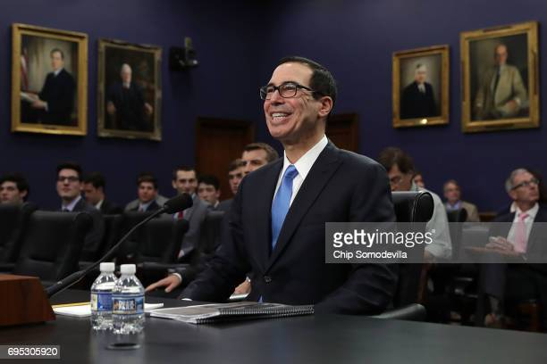 S Treasury Secretary Steven Mnuchin testifies before the House Appropriations Committee's Financial Services and General Government Subcommittee in...