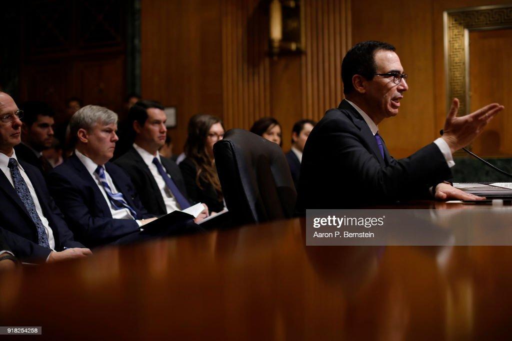 Treasury Secretary Steven Mnuchin Testifies To Senate Finance Committee On Dept's Budget