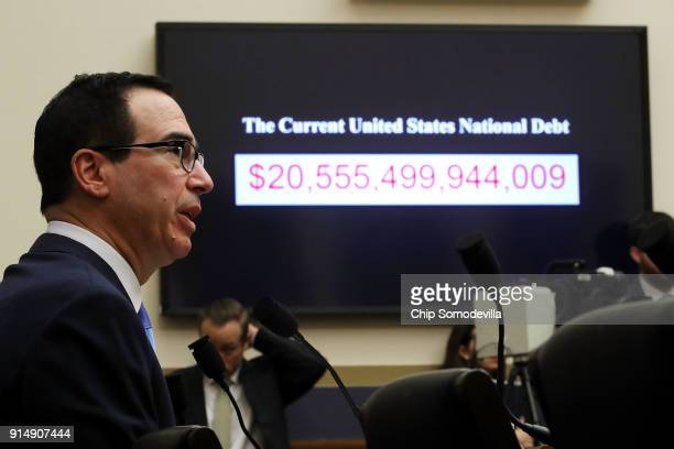 Treasury Secretary Steven Mnuchin testifies on 'The Annual Report of the Financial Stability Oversight Council' before the House Financial Services...