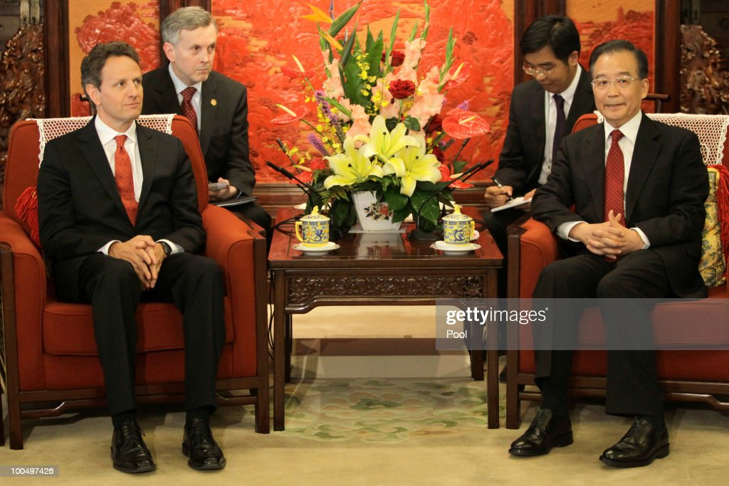 Hillary Clinton & Timothy Geithner Meet With Wen Jiabao