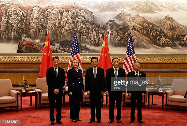 US Treasury Secretary Timothy Geithner Secretary of State Hillary Clinton China's President Hu Jintao Vice Premier Wang Qishan and State Councilor...