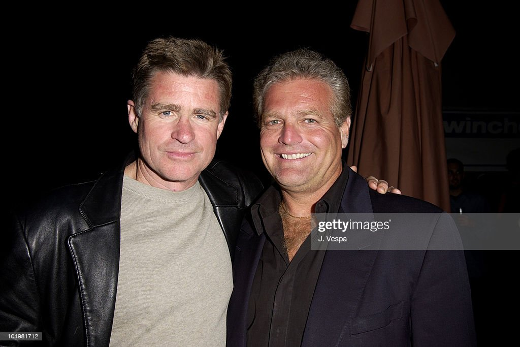 Treat Williams and Gene Musso, Prod. during Cannes 2002 - 'Scorched' Party at Majestic Beach in Cannes, France.