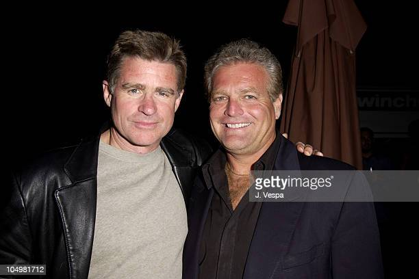 Treat Williams and Gene Musso Prod during Cannes 2002 'Scorched' Party at Majestic Beach in Cannes France