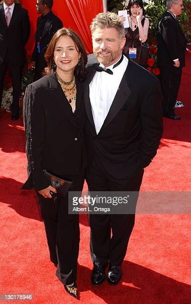 Treat Williams and Pam Van Sant during The 56th Annual Primetime Emmy Awards Arrivals at The Shrine Auditorium in Los Angeles California United States