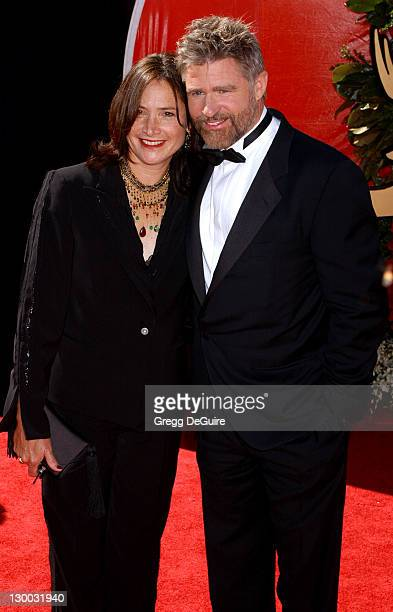 Treat Williams and wife Pam Van Sant during The 56th Annual Primetime Emmy Awards Arrivals at The Shrine Auditorium in Los Angeles California United...