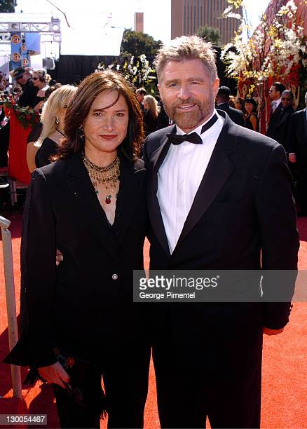 Treat Williams and wife Pam Van Sant during The 56th Annual Primetime Emmy Awards Red Carpet at The Shrine Auditorium in Los Angeles California...